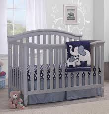 Sorelle Berkley 4-in-1 Convertible Crib - Grey