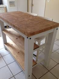 End Grain Kitchen Island Butcher Block Top With Seating For 2 Etsy