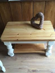 used lovely small chunky pine coffee table in amber valley for 55 00 shpock