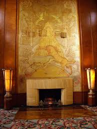 the queen mary ship art deco fireplace