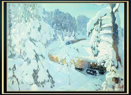 Мир художественного искусства Трактор на лесных работах 1934 Холст масло 135 x 187