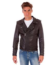 clou black perfecto wizened lamb leather biker jacket