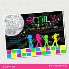 Disco Invitations Dance Party Disco Party Invitations