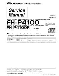pioneer fh p4100,p4100r service manual free download, schematics Pioneer Deh P4100 Wiring Diagram pioneer fh p4100,p4100r service manual (1st page) pioneer deh-p4100 wiring diagram