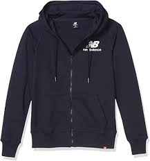 New Balance Men's <b>Essentials Fz Hoodie</b> Jacket: Amazon.co.uk ...