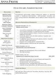 Healthcare Administration Sample Resume 10 Healthcare Administration Resume  Sample Clinic Administrator