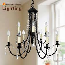 vintage black wrought iron and crystal chandeliers classical candle for idea 18