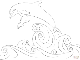 Small Picture Dolphins Jumping out of Water coloring page Free Printable