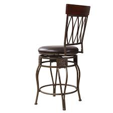 metal swivel bar stools with back. Dark Bronze Metal Swivel Bar StoolAdeco Brown Wood And Leatherette Cushioned Stool. Stools With Back