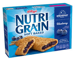 amazon kellogg s nutri grain cereal breakfast bars blueberry 8 count box pack of 6 breakfast cereal bars