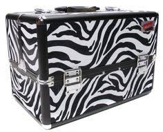 zebra print makeup box beautify large zebra print aluminium 8 partment beauty box cosmetics make up