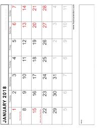 blank 2018 calendar 25 blank printable january 2018 calendar free templates