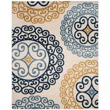 amherst ivory gold 8 ft x 10 ft indoor outdoor area rug