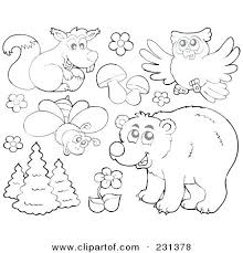 Rainforest Animals Coloring Pages Forest Animals Coloring Pages