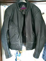 mens leather biker jacket vintage scott leathers of england size medium