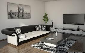 amusing white room. Modern Black White And Amusing Living Room