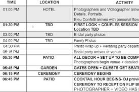 Wedding Schedule Wedding Photography Timeline Ideal Times For Your Photography