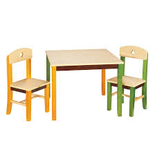 Table Set For Kids Guidecraft See And Store Kids 3 Piece Rectangle Table And Chair