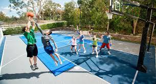 palm beach florida backyard basketball court by sport court