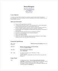 Nursing Resume Objective Adorable 28 Sample Nursing Student Resumes Sample Templates