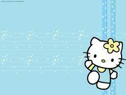 Background Blue Hello Kitty Wallpaper ...