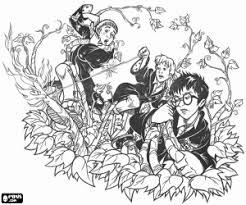 Kleurplaat Magie Van Harry Potter En Zijn Vrienden Kleurplaten