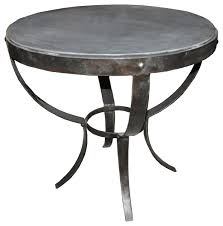 byron side table metal and stone