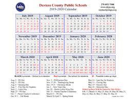 How To Make A School Calendar Dcps Approves 2019 2020 Calendar The Owensboro Times