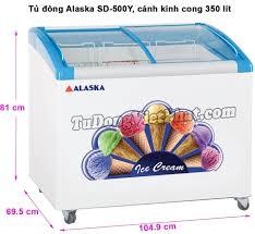 Tủ đông Alaska SD-500Y mặt kính cong 350 lít - Giá rẻ nhất T11/2020