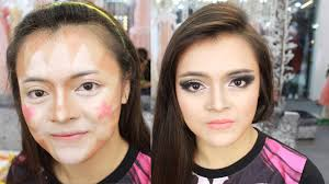 party night contour and highlight your face makeup