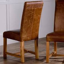 tan leather dining chairs vintage uk