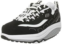 skechers black walking shoes. skechers women\u0027s shape ups strength fitness walking shoe,black/white,5.5 black shoes a