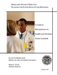 Free Medical Power Of Attorney Maryland Form – Adobe Pdf