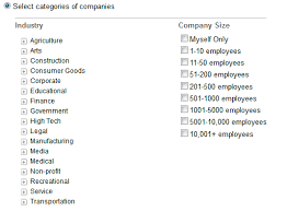 Target By Industry (Company Category) | Linkedin PPC