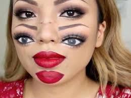 video makeup artist creates amazing double vision look