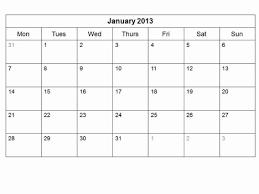 Monthly Calendar 2013 Monthly Calendar Template 2013 Madinbelgrade