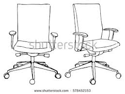 office chair drawing. Brilliant Chair Set Office Chairs Isolated On White Stock Vector 578452153 And Chair Drawing U