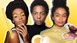 proof that yellow makeup looks amazing against brown skin