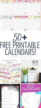 From simple and minimalist designs to colorful and floral, there's something for everyone! 50 Free Printable Calendars For 2021 The Turquoise Home