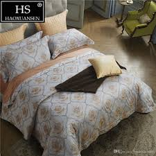 baroque paisley design 100 percent egyptian cotton exquisite jacquard silvery white yellow bedding bed sheets duvet cover pillowcase bedspread sets on