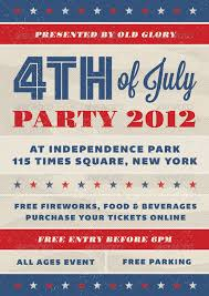 4th of july invitation wording