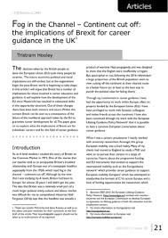 Career Guidance Articles Fog In The Channel Continent Cut Off The Implications Of