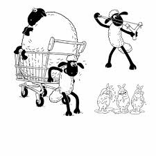 Shaun The Sheep Coloring Pages Activity Kids Digital Clipart With