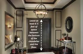 hang chandelier