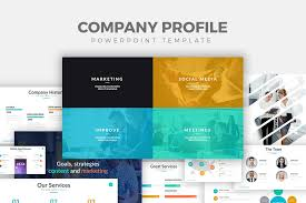 Company Profile Sample Download Adorable 48 Free Company Profile Powerpoint Templates For Presentations