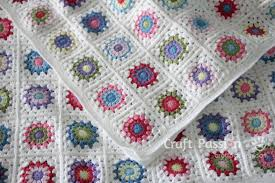Granny Square Blanket Pattern Adorable Sunburst Granny Square Blanket Free Crochet Pattern