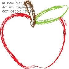 teacher apple outline clipart. clip art illustration of a red apple teacher outline clipart n