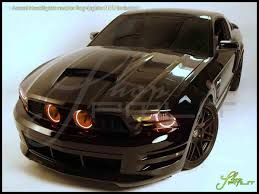 Red Halo Lights For Mustang Oracle 10 12 Ford Mustang Gt Led Halo Rings Head Fog Lights Bulbs