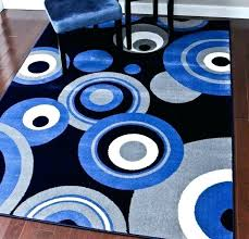 modern gray area rugs blue rug cobalt exquisite on bedroom with extremely 3 circles x cherine