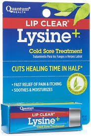 lip clear lysine plus cold sore